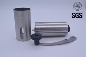 Manual Coffee Grinder Brushed Stainless Steel Premium Ceramic Burr Coffee Grinder (SGS) pictures & photos
