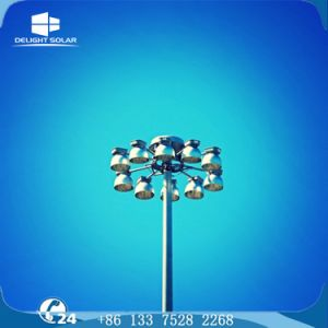Q235B/A36 Polygonal Hot-DIP Galvanized Steel Metal Halide High Mast Pole pictures & photos