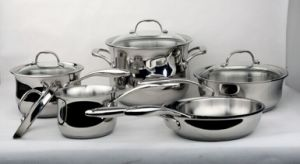 Charms 12PCS Stainless Steel Cookware Set Capsule Bottom Happy Baron pictures & photos
