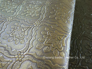 Metallic PVC Leather for Sofa Upholstery and Cushion Covered pictures & photos