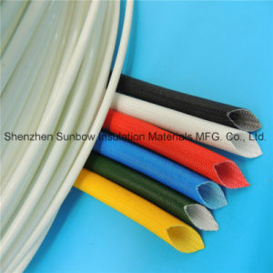High Voltage Cable Protection Silicone Insulation Fiberglass Braided Sleeving 2.5kv pictures & photos