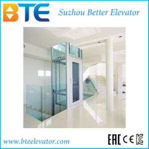 Ce Vvvf Mrl Home Elevator with Transparent Glass Cabin pictures & photos