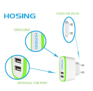 2.1A Single/ Dual USB Fast Charging Speed Travel/ Home Charger pictures & photos