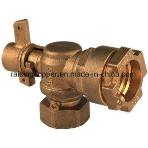 Lockable Brass Angle Ball Valve pictures & photos
