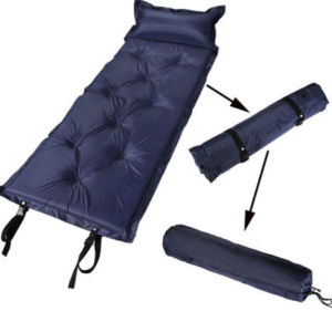 Inflatable Fabric Camping Mattress with Built-in Pillow of Outdoor Gear pictures & photos