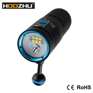 New Hoozhu V40d Diving Video Light+Spotlight with Three Color Light and Max 4500lm Waterproof 100m pictures & photos