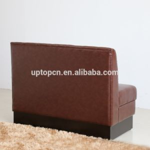(SP-KS336) Custom Made Real Leather Brown Coffee Booth Modern pictures & photos