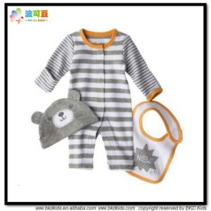 High Quality Baby Appael Stripe Printing Infant Set pictures & photos