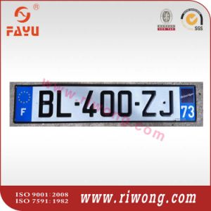 Euro Embossed Number Plate with Reflective Film pictures & photos