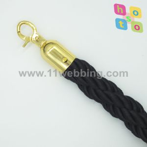 Queue Barrier Velvet Rope/Twist Rope for Hotel Stanchions pictures & photos