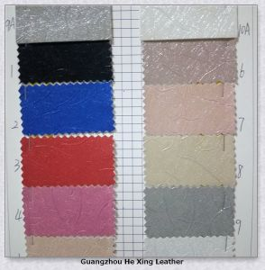 Synthetic PU Leather Abrasion Resistance Leather for Shoes pictures & photos