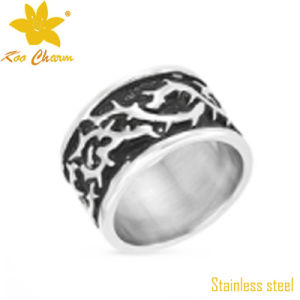 Classic China Stainless Steel Carved Ring Jewelry pictures & photos