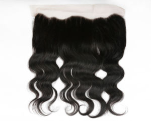 "Brazilian Human Hair Free Part 13*4"" Body Wave Lace Closure 14inches pictures & photos"