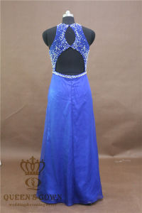 Stunning Round Neck Light Blue Prom Dress Heavily Beading Floor Length Formal Dress pictures & photos