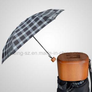 5 Section Super Mini Manual Umbrella Wooden Handle Flat Pocket Umbrella pictures & photos