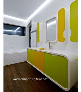 Bathroom Corian Made Vanity Cabinets pictures & photos
