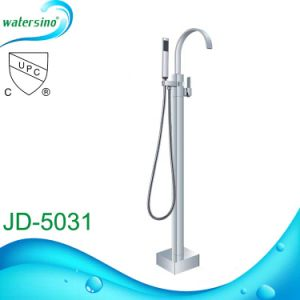 Hot Sale Upc Floor Mounted Bathtub Faucet with Hand Shower pictures & photos