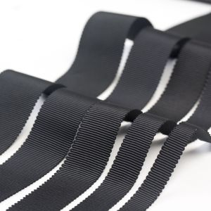 Black Wave Polyester Ribbon for Garments and Bags pictures & photos