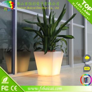 Illuminous Outdoor Plant Pot and Plastic LED Light Flower Pot