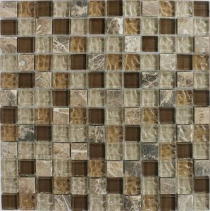 25*25 Crackle Crystal Glass Tiles Mosaic for New Decoration pictures & photos