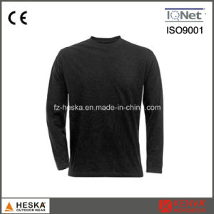 Round Collar 100% Cotton Blank Baselayer Shirt pictures & photos