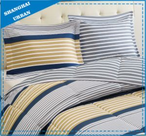 Dorm Stripe Design Printed Cotton Quilt Cover Bedding pictures & photos