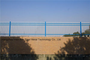 Haohan High-Quality Elegant Blue Decorative Security Galvanized Steel Fence 11 pictures & photos