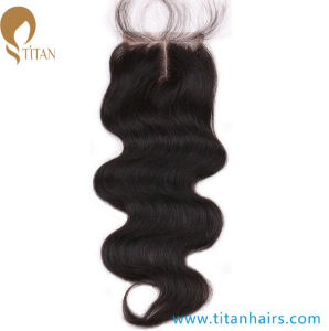 Manufacture Indian Remy Human Hair Middle Part Hair Pieces pictures & photos