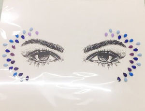 New Facial Tattoo Stickers Crystal Resin Eyebrow Sticker Acrylic Gem Sticker (TS-573) pictures & photos