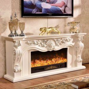Home Furniture LED Heater Electric Fireplace with Ce Certificate (331S) pictures & photos