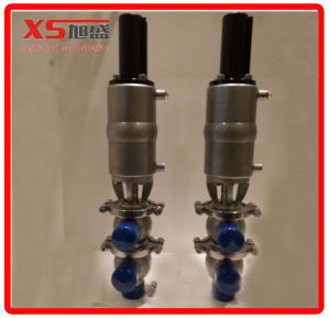 25.4mm Ss304 Sanitary Pneumatic Divert Seat Valve with Position Sensor pictures & photos