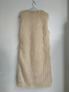 Beige Faux/Fake Fur, Women′s Clothing, Long Vest, Good Quality pictures & photos