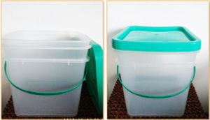 HDPE/PP Food Safe Clear Plastic Storage Bucket 2L 5L 8L 10L 15L 20L