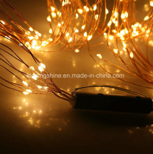 Warm White Micro LED Indoor Multi Branch Solar Powered Waterproof Copper Wire LED String Fairy Light Lamp Xmas pictures & photos