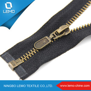 Leather Jacket Metal Zipper, Metal Zipper for Apparel pictures & photos