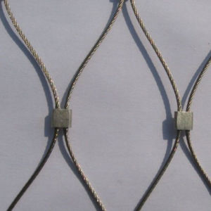 3 Inch Stainless Steel Ferrule Cable Mesh Knotted Rope Mesh pictures & photos