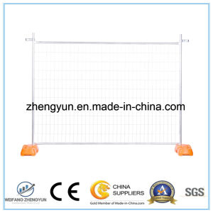 Galvanized Metal Frame Material Portable Temporary Fence with Brace pictures & photos