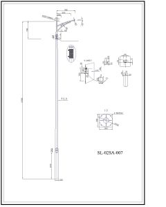 Q345 S355 Bended Galvanized Street Lighting Pole pictures & photos