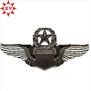 Customized Silver Flying Star Metal Pin Badge pictures & photos