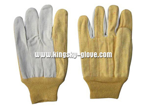 Hot Mill Anti-Heat 2 Layers Cotton Work Glove pictures & photos