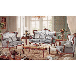 Living Room Furniture with Wood Sofa Set (503A) pictures & photos