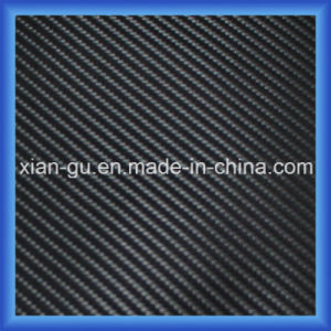 Simulation Carbon Fiber Twill Pattern PU Bag Leather pictures & photos