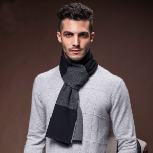 Men′s Fashion Wool Nylon Acrylic Knitted Warm Winter Scarf (YKY4618) pictures & photos