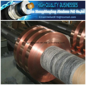 High Quality Adhesive Copper Polyester Tape pictures & photos