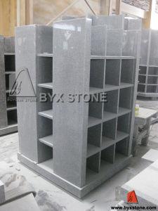 Square Shape Grey Granite Columbarium of 40 Niches pictures & photos