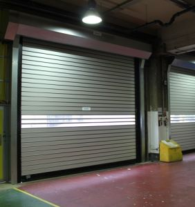 Insulated Steel Metal High Speed Roller Shutter Door (HF-2028) pictures & photos