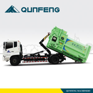 Garbage Truck with Detachable Carriage and Auxiliary Garbage Bin pictures & photos