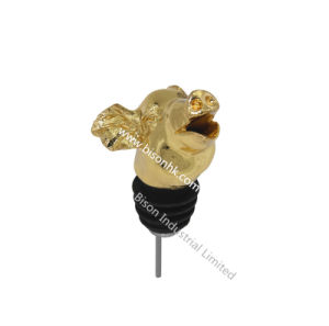 Gold Plating Pig Wine Pourer with FDA/SGS Approval pictures & photos