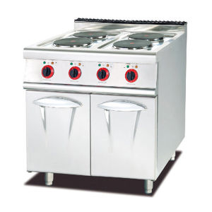 Stainless Steel Electric Range with 4-Hot Plate and Cabinet pictures & photos