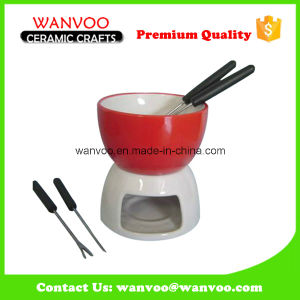 Handicraft Ceramic Fondue Cheese Cookware Set pictures & photos